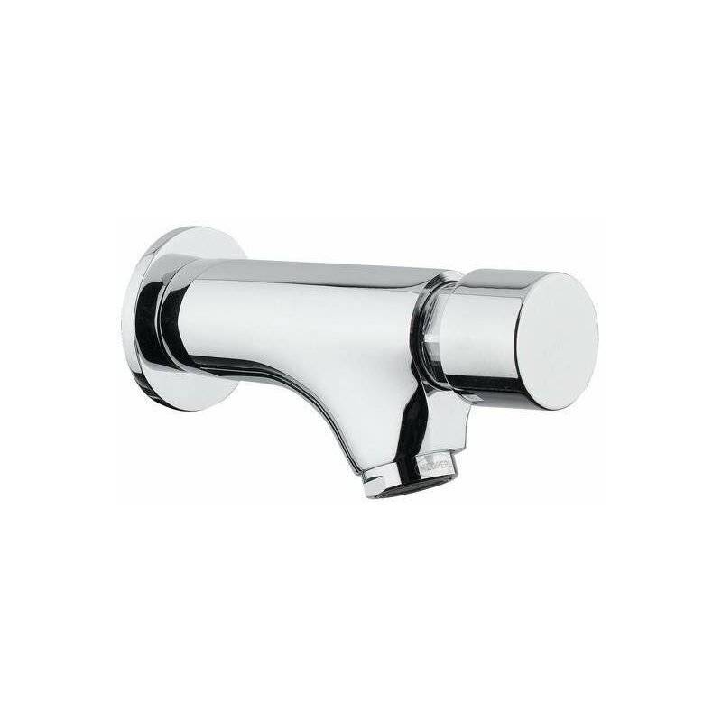 Idral Rubinetteria - Mitigeur lavabo mural avec bouton poussoir Idral Modern 08200   Chromé