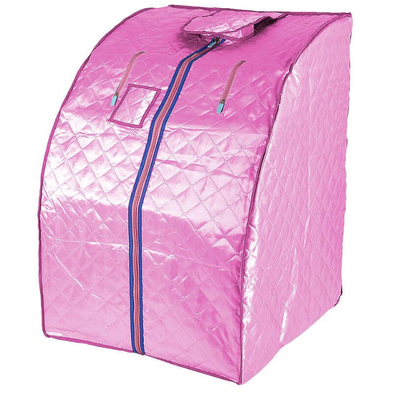 YONGQING Sauna Box Bain de Vapeur mobile Spa Pliable Ménage à Vapeur Télécommande Température Rose 220V Prise EU - Rose