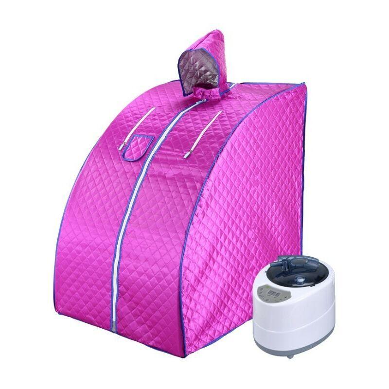 BATHRINS Sauna Infrarouge et Portable,Spa à Domicile pour une Personne,Idéal pour la Désintoxication et la Perte de Poids violet.