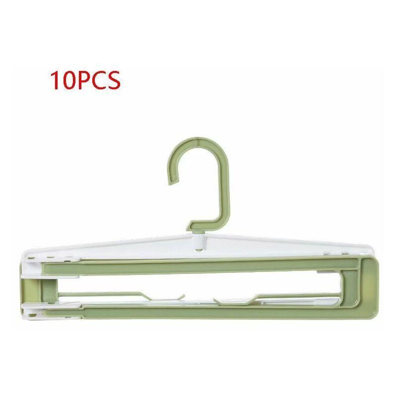 PERLE RARE Séchoir en plastique pliable, porte-serviettes de ménage et porte-serviettes de bain, étendoir à linge, étendoir à linge suspendu (10 vert) - Perle
