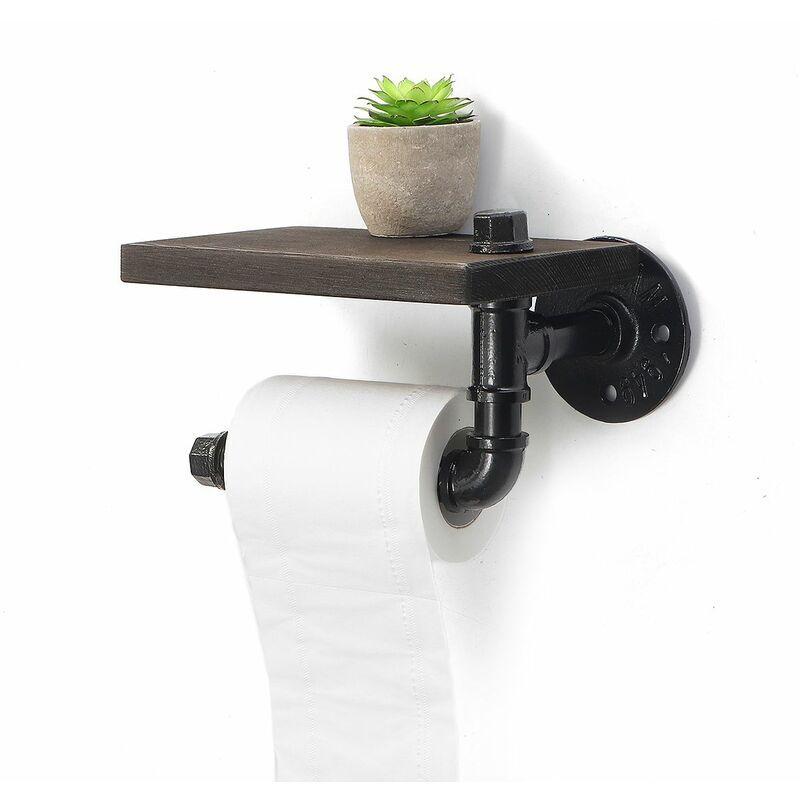 DRILLPRO Support Porte-papier Toilette Rouleau Salle de Bain Mural Distributeur UK LAVENTE