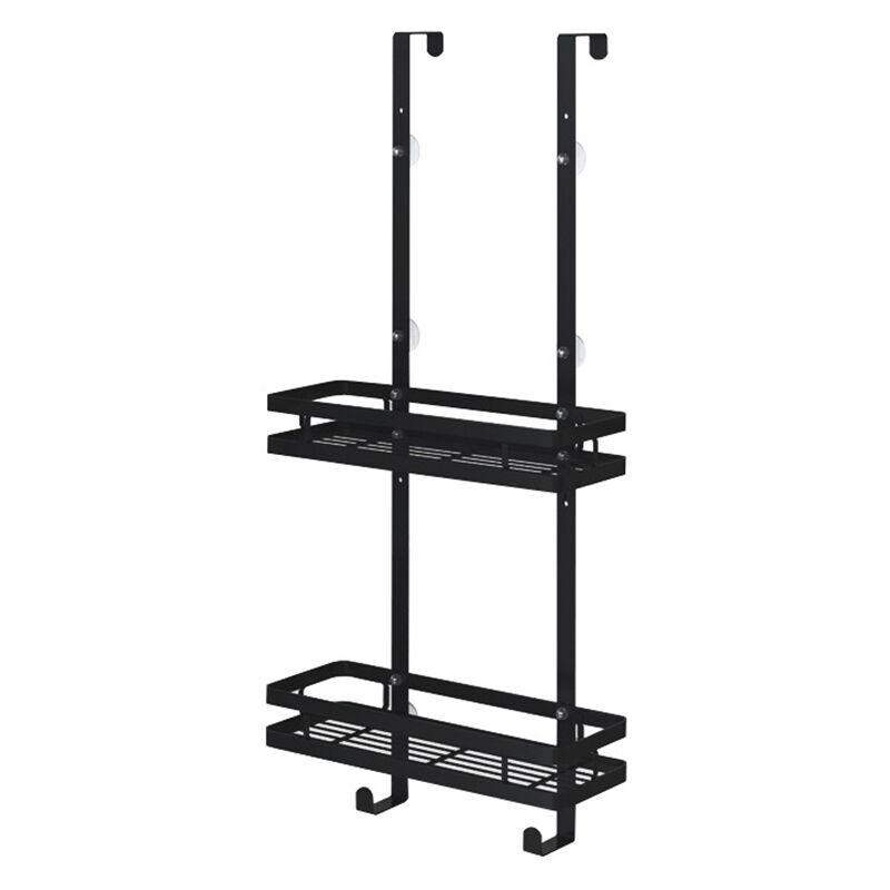 TIGA étagère de douche à 1/2 niveaux support de rangement suspendu pour salle de bain en acier inoxydable (double couche)