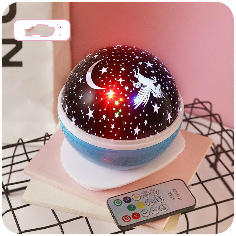 THSINDE Veilleuse pour avec projection de lune et d'étoiles Rotation à 360 degrés e