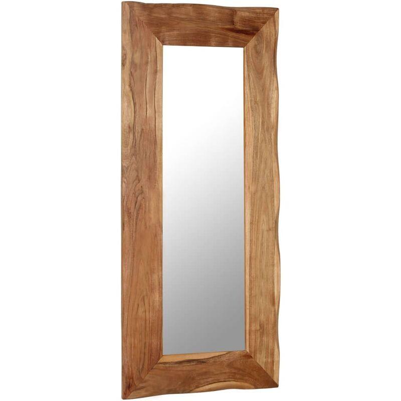 vidaXL Miroir cosmetique 50x110 cm Bois solide d'acacia