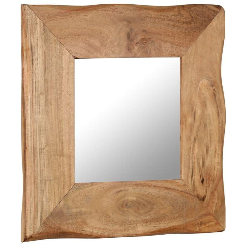 vidaXL Miroir cosmetique 50x50 cm Bois solide d'acacia