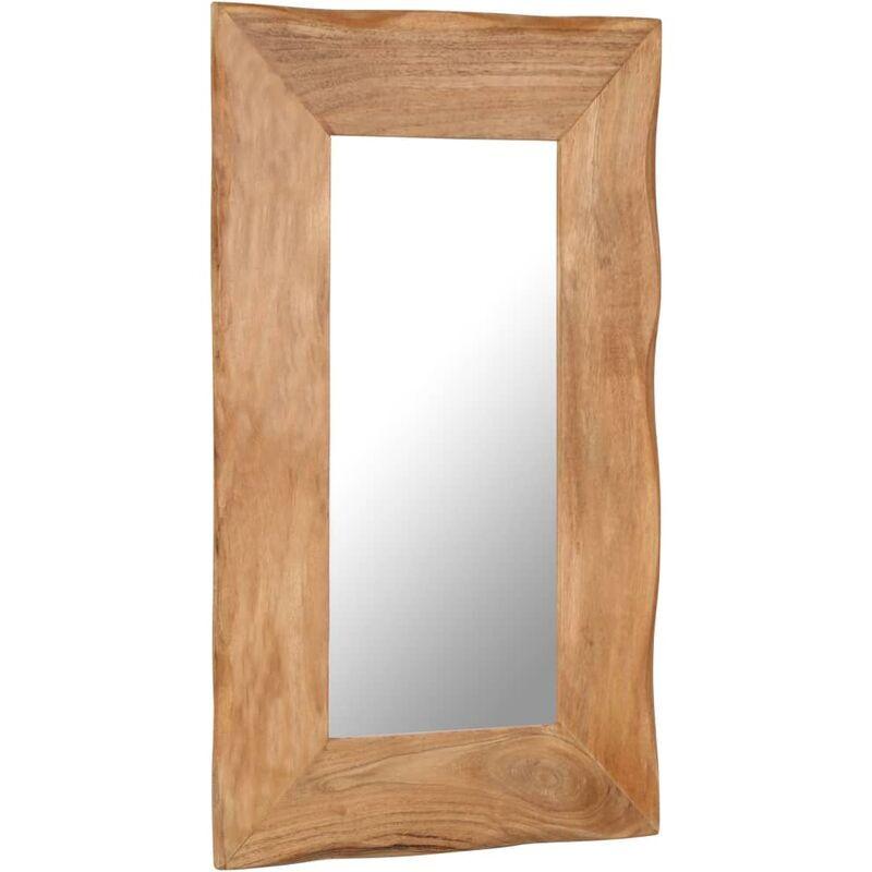 vidaXL Miroir cosmetique 50x80 cm Bois solide d'acacia