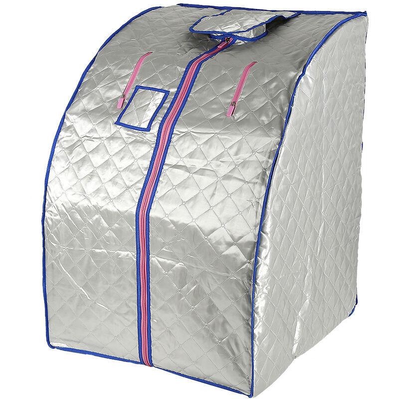 YONGQING ®Sauna Box Bain de Vapeur mobile Spa Pliable Ménage à Vapeur Télécommande Température Argenté 220V Prise EU - Argent - Yongqing