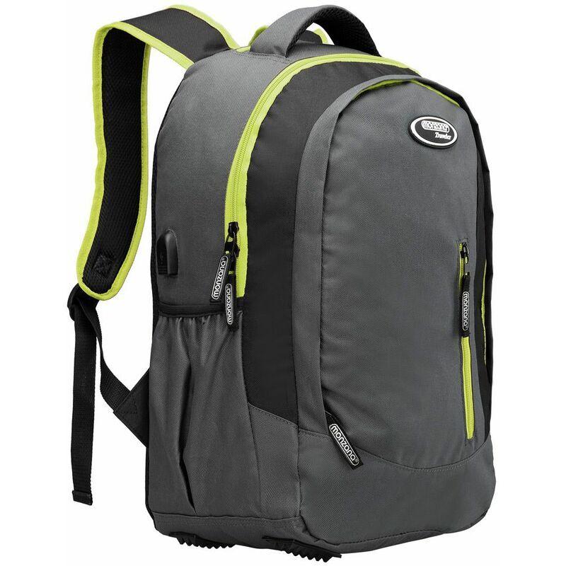 Monzana - Sac à dos 35L randonnée montagne sport vacances école enfant port USB Tissu 600D Oxford sac ordinateur portable nombreux compartiments