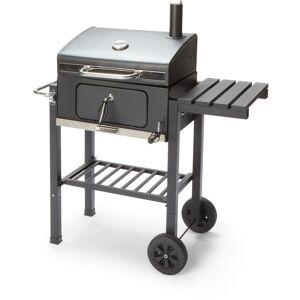 CAESAROO Barbecue charbon de bois Zack en acier noir avec four   noir - Publicité