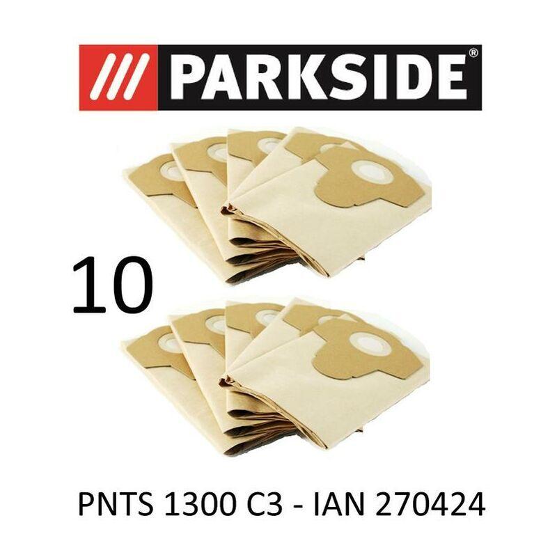 PARKSIDE 10 Sacs d'aspirateur Parkside PNTS 1300 20 L C3 Lidl Ian 270424 Marron 906–05 – Parkside Aspirateur sec humide