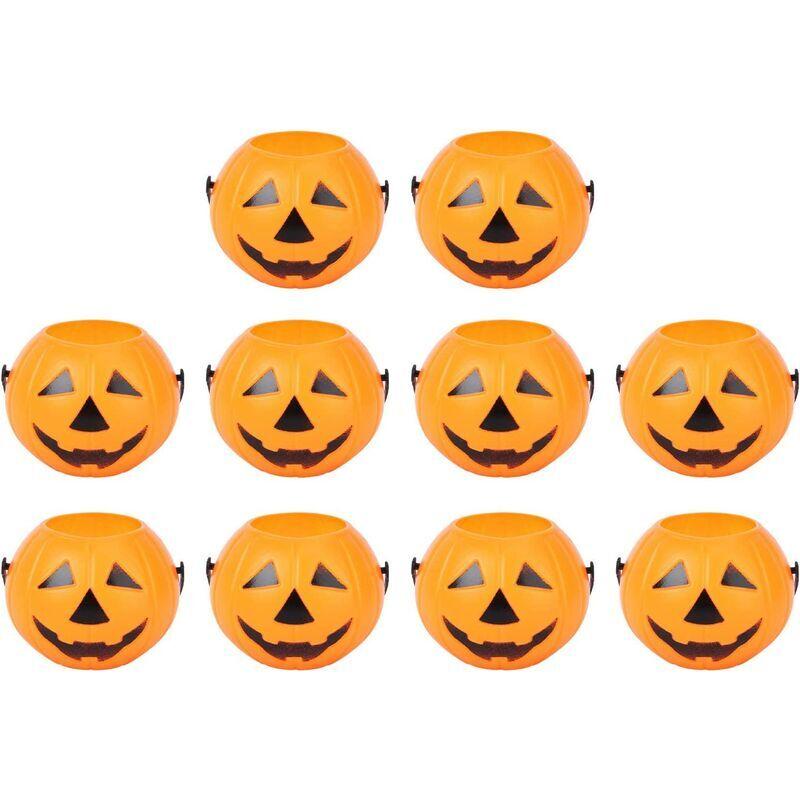 Betterlife - 10pcs Halloween Courbe de bonbons Bucket Portable de la citrouille de citrouille pour enfants Truc ou Traiter Sacs pour les faveurs de