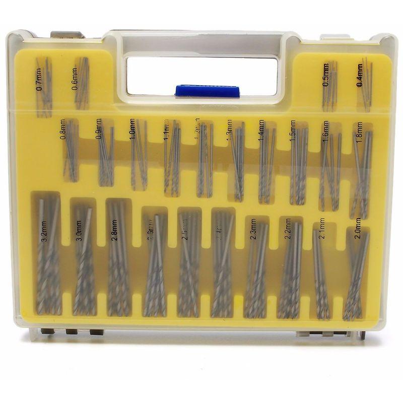 Mohoo - 150 pcs HSS Matériel Puissance Rotatif Micro Twist Foret de Précision Ensemble de Bits 0.4-3.2mm Mini Outil Kit avec étui