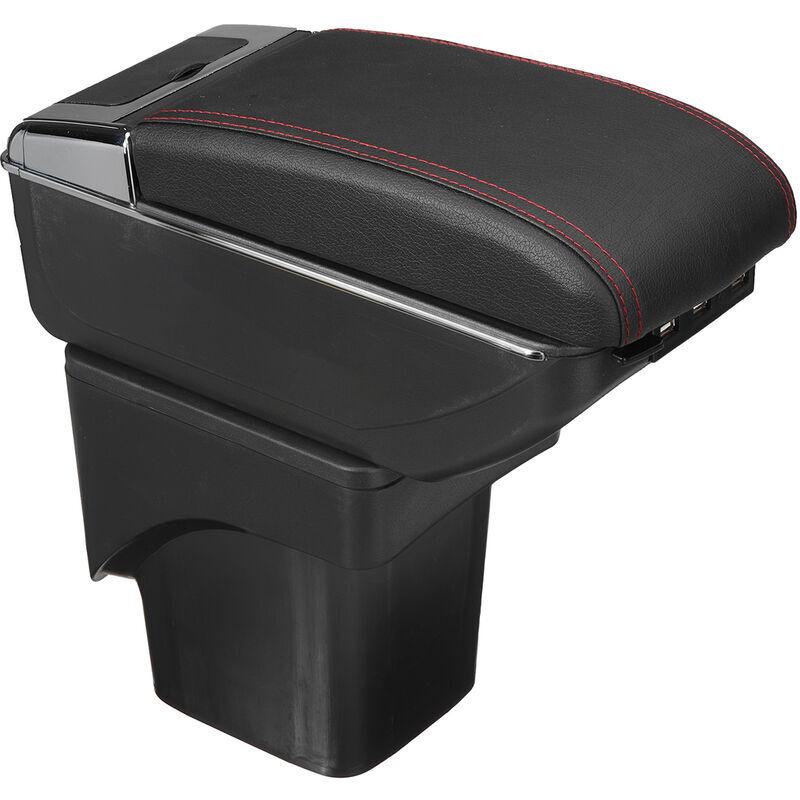 LBTN Accoudoir de voiture pour Ford Focus 2 Mk2 2005-2011 Console centrale en cuir PU bo?te de contenu de magasin 7 Ports USB avec porte-gobelet égaré