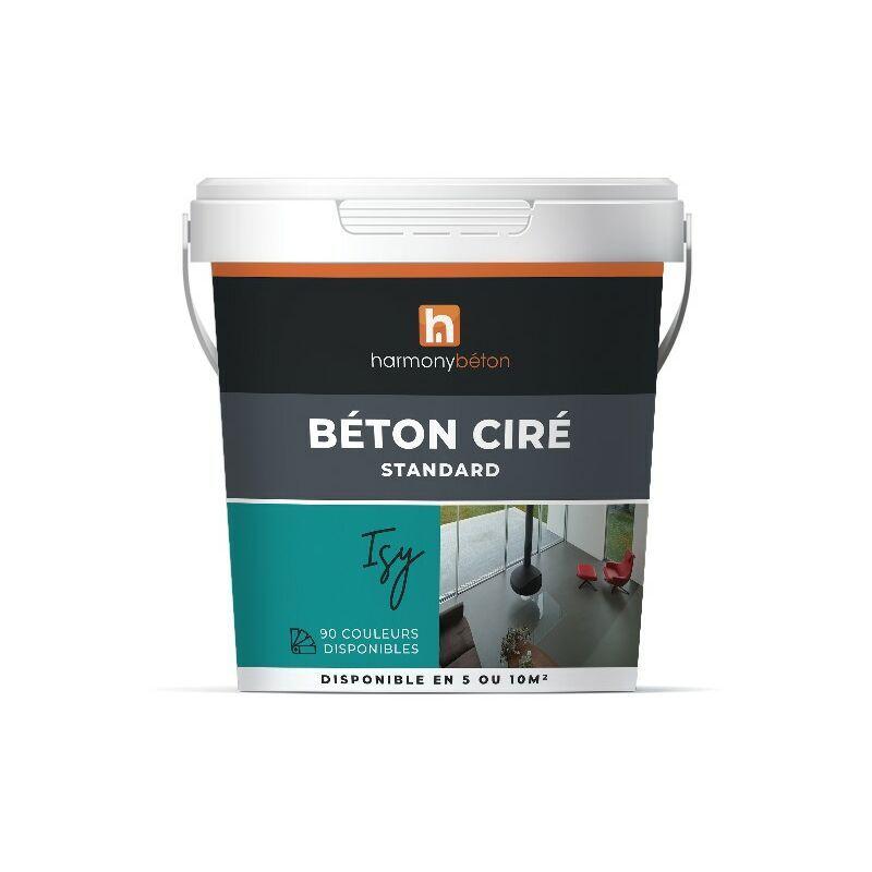 Béton ciré prêt à l'emploi standard - 5 kg 75.Vert d'eau - Harmony Béton