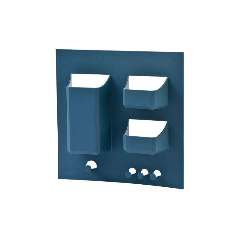 betterlife Support de lavage de brosse à dents Free punching salle de bain WC vanité WC mural support de rangement de toilette bleu foncé
