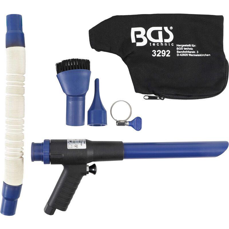 BGS Pistolet À Air Comprimé Aspirant Et Soufflant   Réversible   9 Pièces Bgs 3292