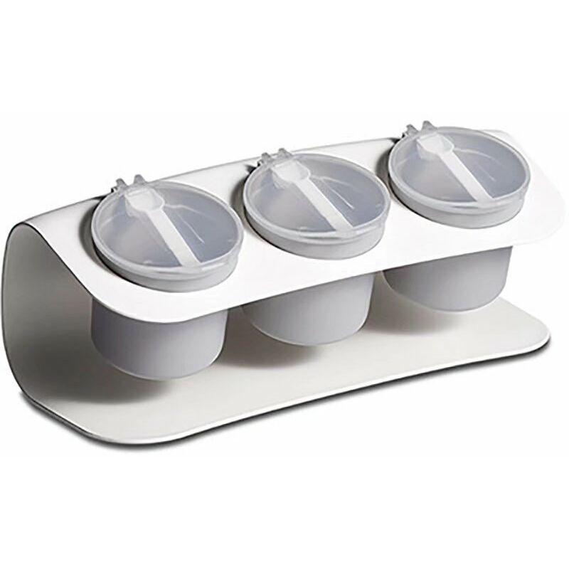 BETTERLIFE Boîte d'assaisonnement domestique avec couvercle Fournitures de cuisine Bocal d'assaisonnement Boîte de rangement de sucre de sel Boîte