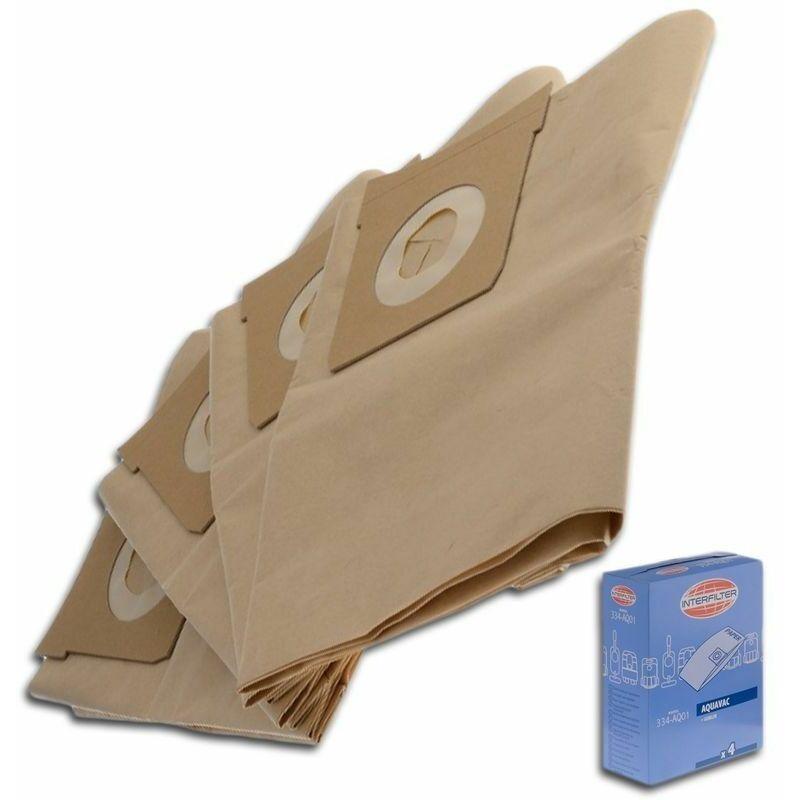 Mac Allister - Boîte de 4 sacs microfibres (35601511) Aspirateur 35616 AQUAVAC, GOBLIN SHOP VAC, AI TEK, EWT, LEROY MERLIN