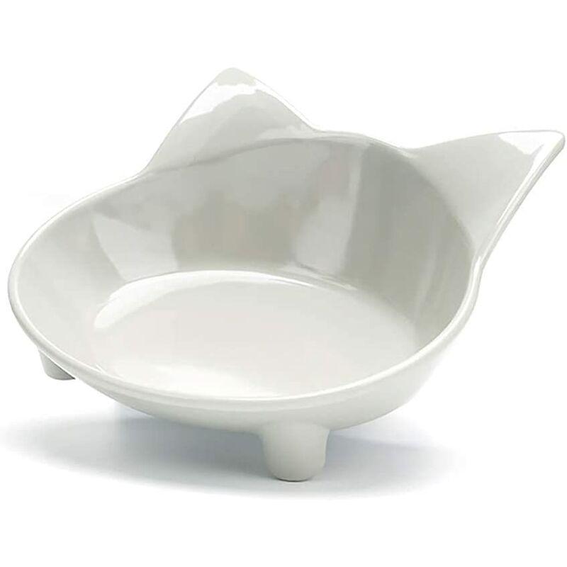 BEARSU Bol pour chien bol de nourriture pour chat ensemble chiot bol d'eau pour animaux de compagnie bol d'alimentation pour animaux de compagnie, gris