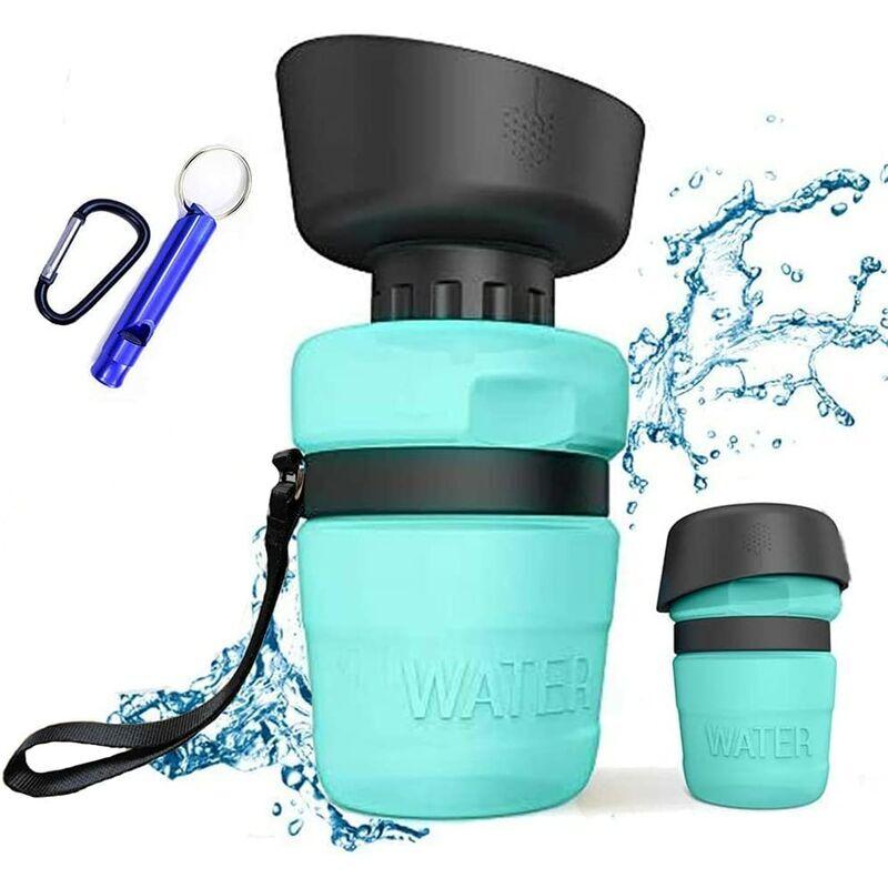 BEARSU Bouteille d'eau pour Chien Portable de Voyage, 520 ML Gourde pour Chien pour Les déplacements, sans BPA, Anti-Fuite, Gourde d'extérieur pour Marcher,