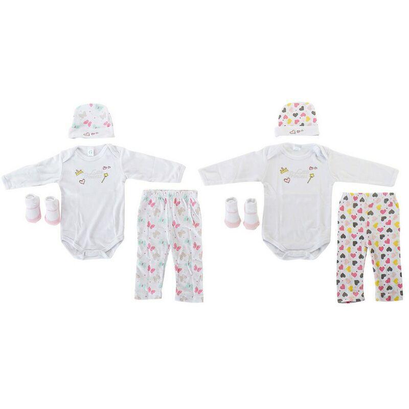 ROGAL Coffret bébé dkd home decor 0-6 mois coton coeurs (2 pcs) Rogal