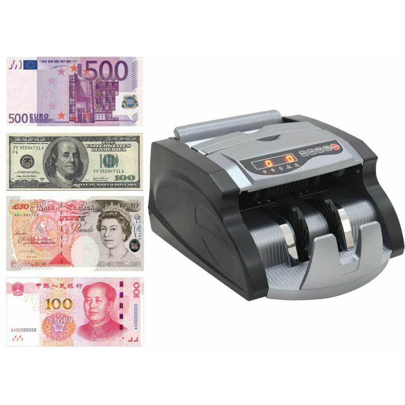 HAPPYSHOPPING Compteuse de billets Noir et gris