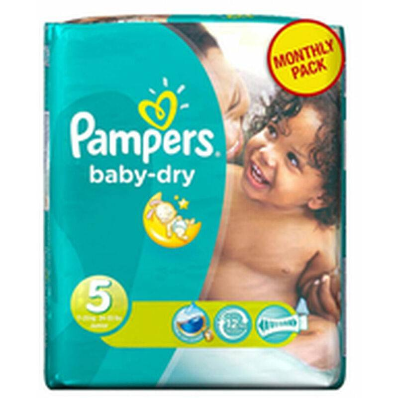 ROGAL Couches jetables pampers baby dry (taille 5) (11 -16kg) (reconditionné a+) Rogal