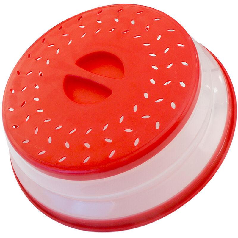 Betterlife - Couvercle Pliable Couverture de Protection Anti-éclaboussures Passoire pour Fruits et Légumes sans BPA et Non Toxique (Rouge)
