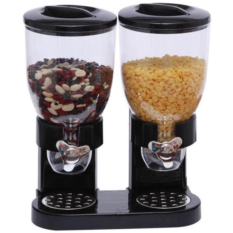 Happyshopping - Distributeur d'aliments secs Distributeur de cereales seches compacte indispensable a double controle 4L pour cereales bonbons noix