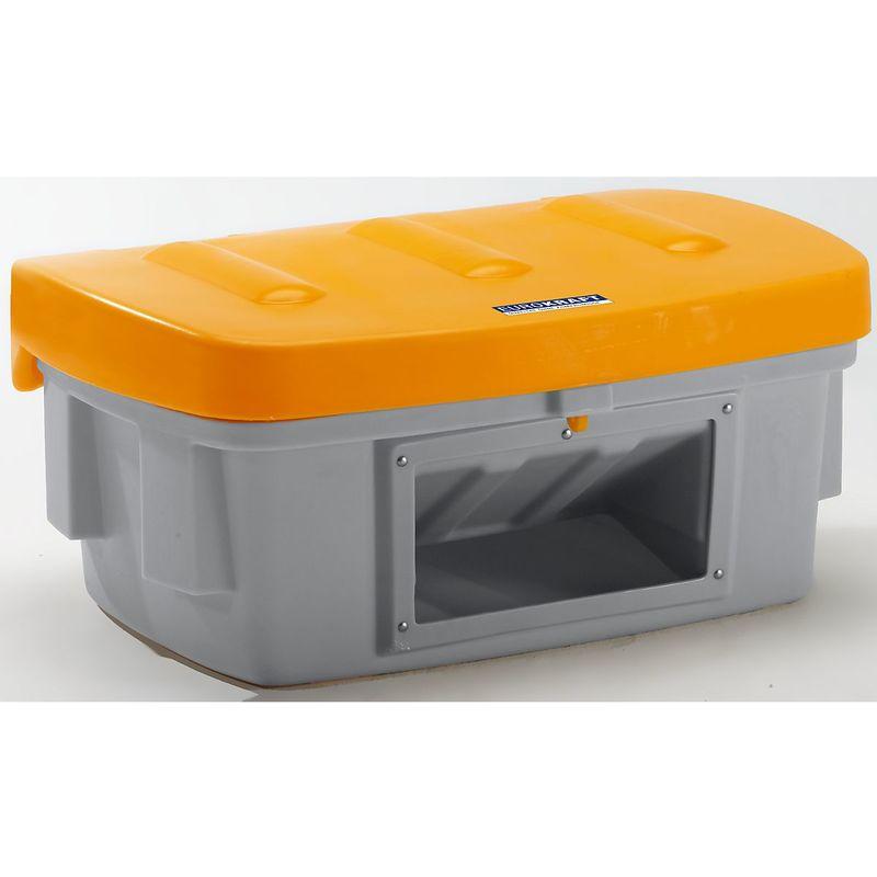 CERTEO EUROKRAFT Bac à sel et bac universel - 100 l, avec trappe d'accès - couvercle orange - Coloris du couvercle: orange