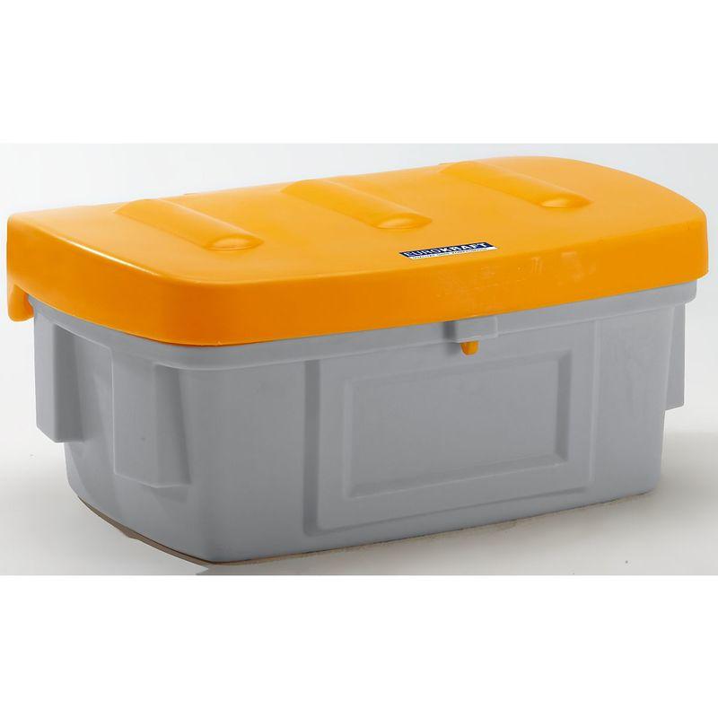 CERTEO EUROKRAFT Bac à sel et bac universel - 200 l, sans trappe d'accès - couvercle orange - Coloris du couvercle: orange