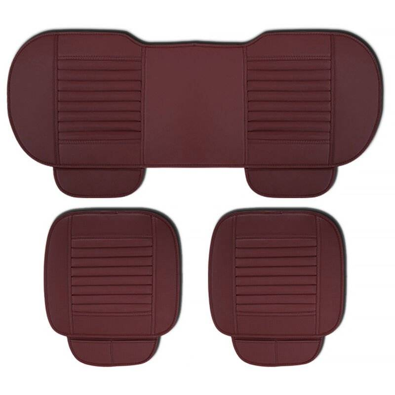 ASUPERMALL Four Seasons General Car Seat Cover Respirant Bambou Charbon De Bois Sieges Coussin Auto Accessoires, Style 2, Rouge