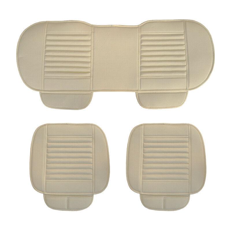 ASUPERMALL Four Seasons General Car Seat Cover Respirant Charbon De Bambou Sieges Coussin Auto Accessoires, Style 2, Beige