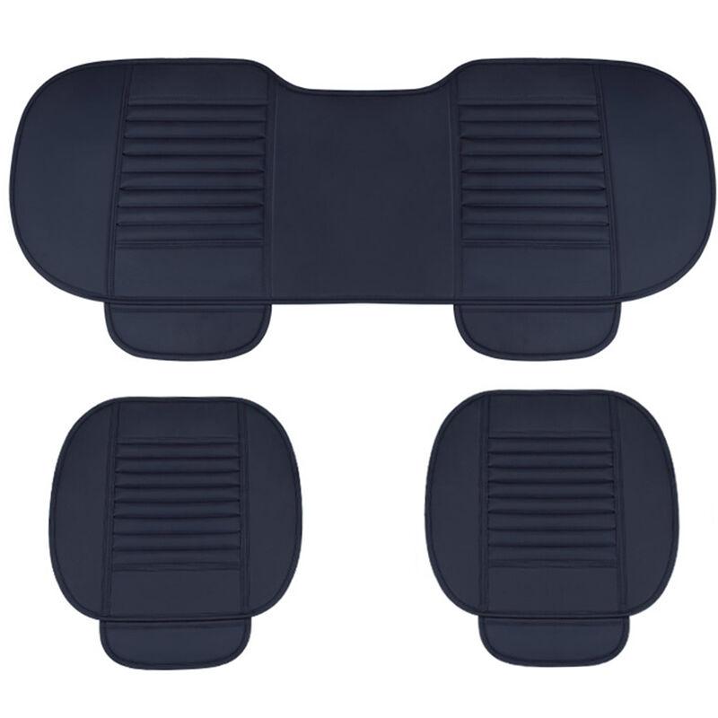ASUPERMALL Four Seasons General Car Seat Cover Respirant Charbon De Bambou Sieges Coussin Auto Accessoires, Style 2, Bleu
