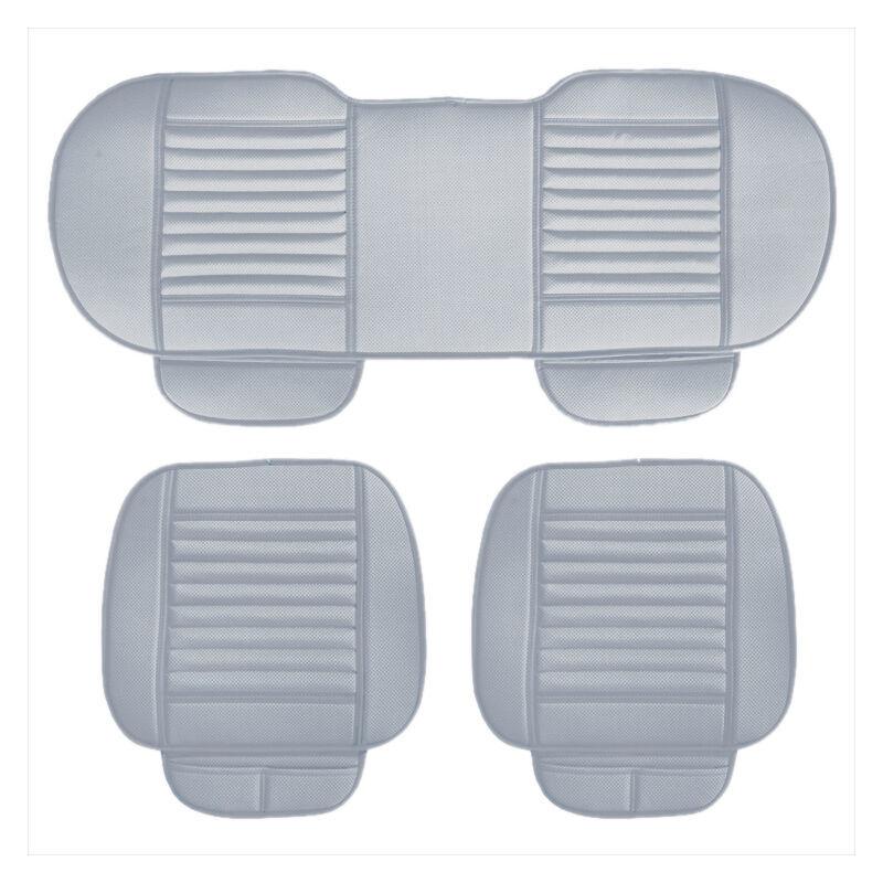 ASUPERMALL Four Seasons General Car Seat Cover Respirant Charbon De Bambou Sieges Coussin Auto Accessoires, Style 2, Gris