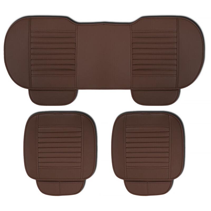 ASUPERMALL Four Seasons General Car Seat Cover Respirant Charbon De Bambou Sieges Coussin Auto Accessoires, Style 2, Marron