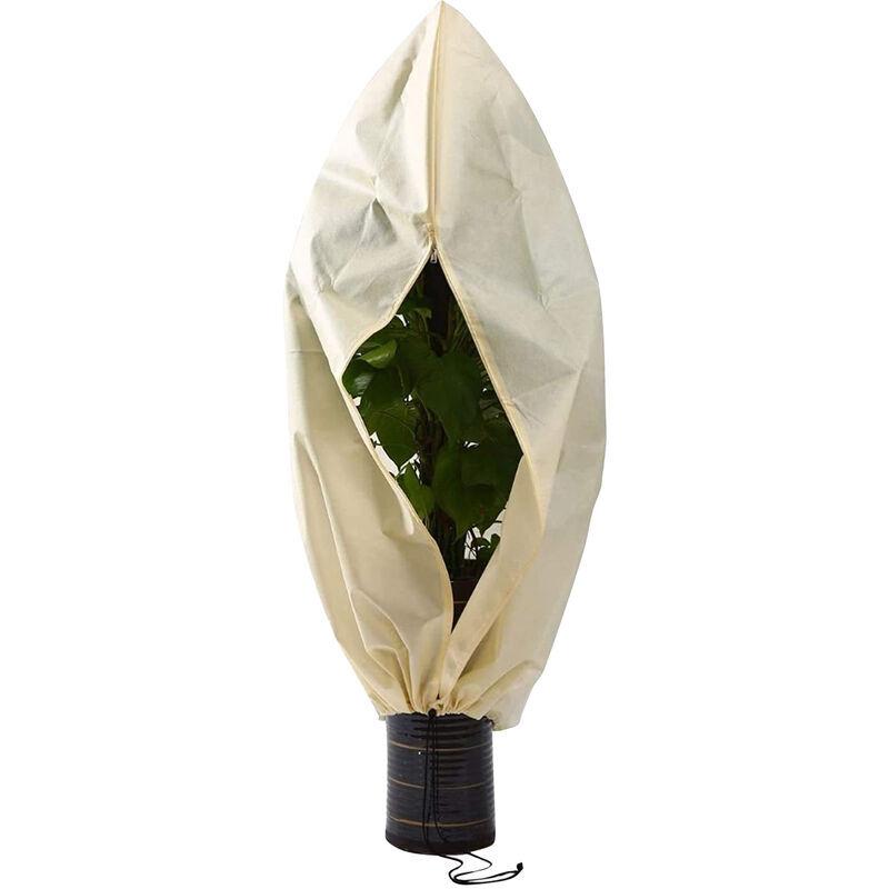Happyshopping - Housse de protection contre le gel pour plantes d'exterieur Sac de protection pour plantes en tissu non tisse reutilisable avec