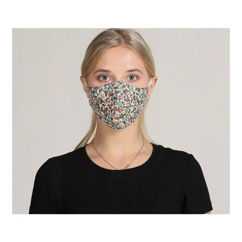 ILoveMilan Le tissu de masque adulte est lavable, réutilisable, réglable, avec sac filtrant (couleur rouge 10pac)
