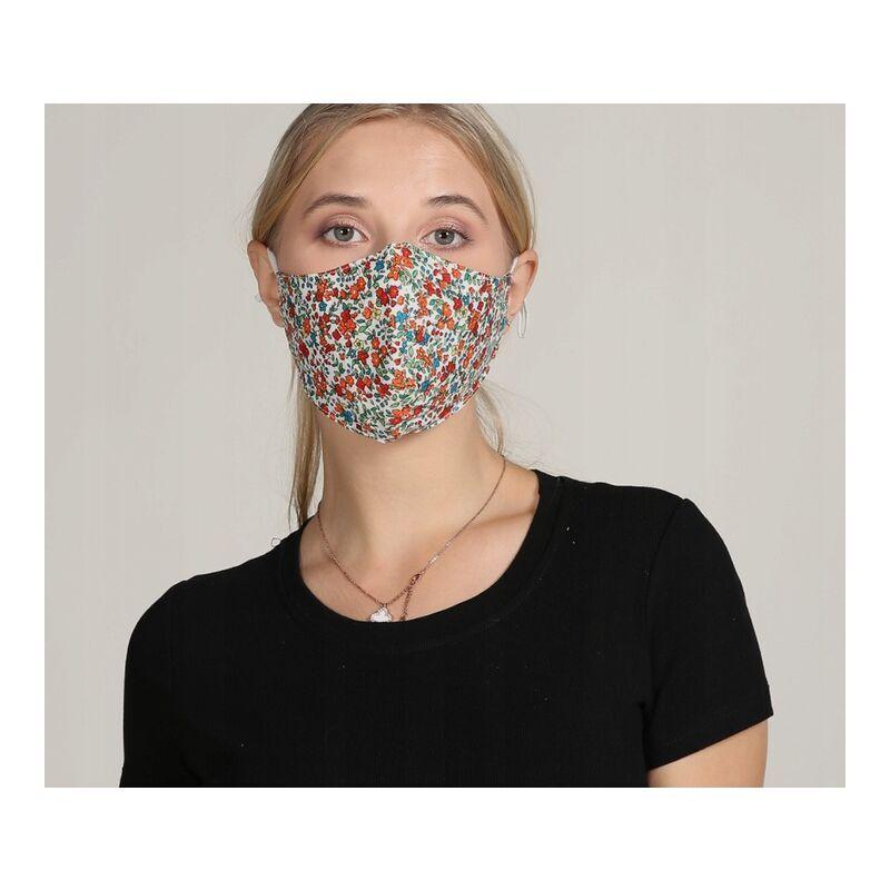 ILoveMilan Le tissu de masque pour adulte peut être lavé et réutilisé, sac filtrant réglable (10pac, petit rouge)