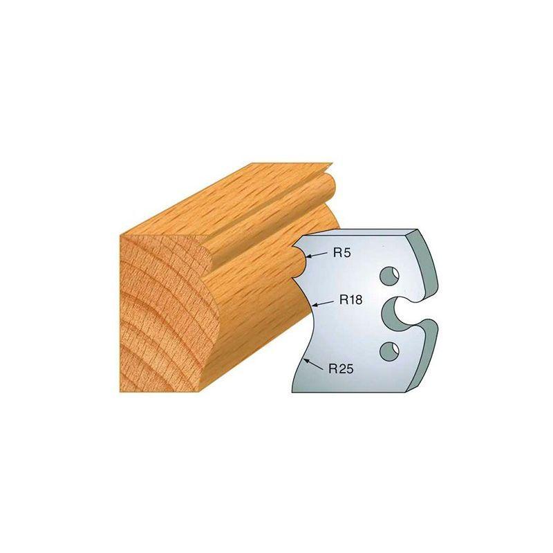 Leman - Jeu de 2 fers profilés acier Ht. 50 mm N°222 Grain d'orge et moulure - 855.222
