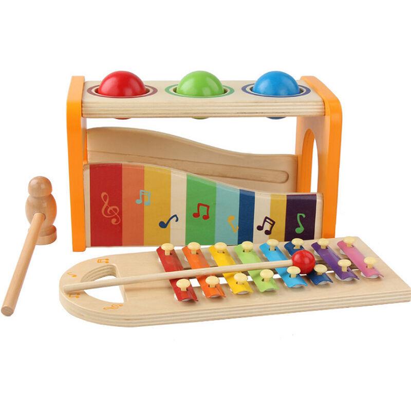 Yongqing - Jouets éducatifs musicaux en bois   Xylophone jouet pour enfants - Multicolore