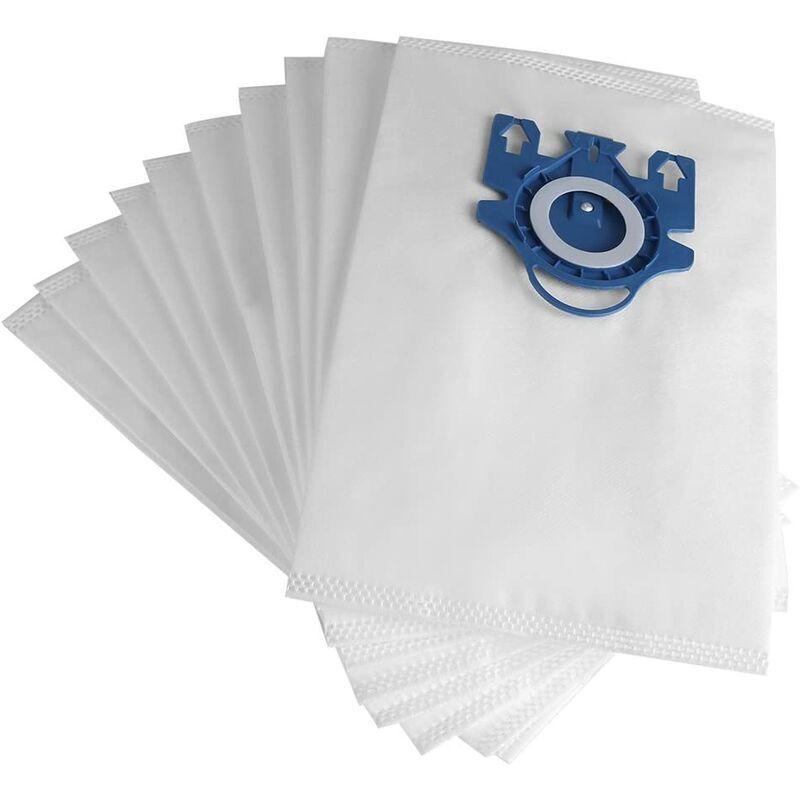 LANGRAY Lot de 10 pièces sac à poussière, pièces de sacs filtrants à poussière en tissu pour aspirateur pour Miele GN Type S2/S5/S8
