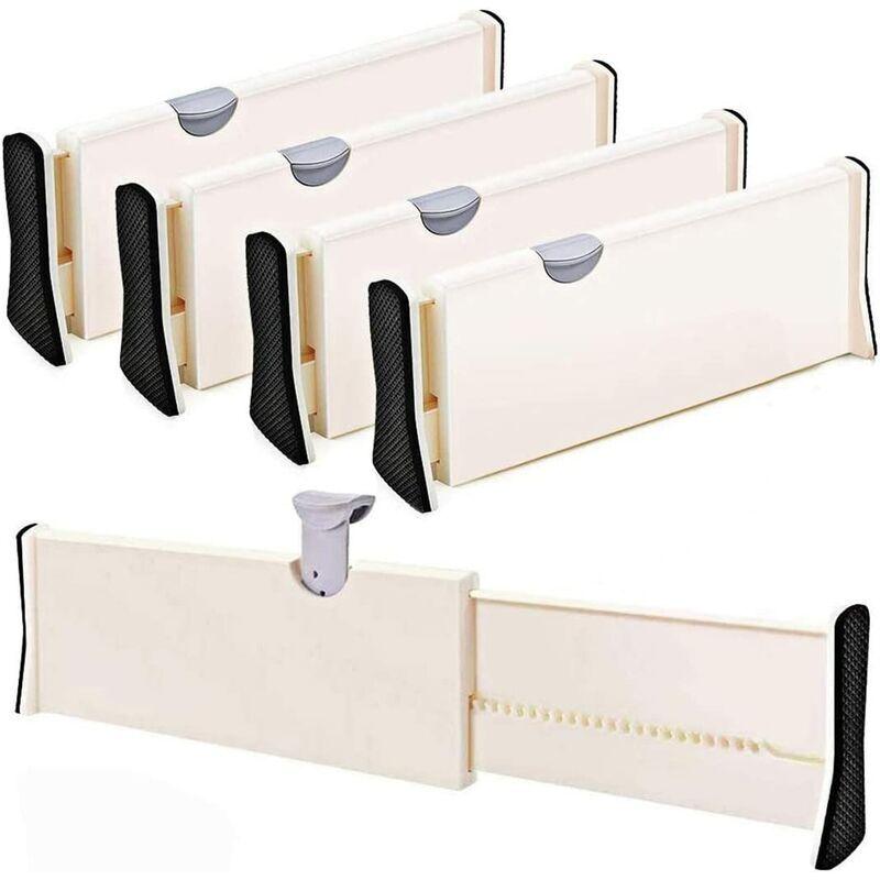 Bearsu - Lot de 4 séparateurs de tiroir réglables - Pour chambre à coucher, salle de bain, placard, tiroir pour bébé, bureau, tiroir pour bébé,