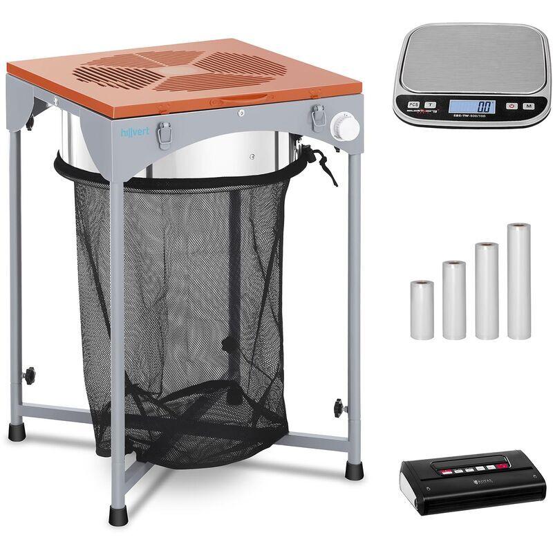 HILLVERT Machine à manucurer électrique Set Effeuilleuse Mise Sous Vide Balance Sac 165 W