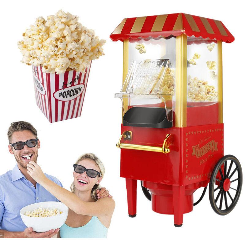 OOBEST Machine à Pop Corn   Retro Popcorn Maker   Air Chaud Sans Gras Huile
