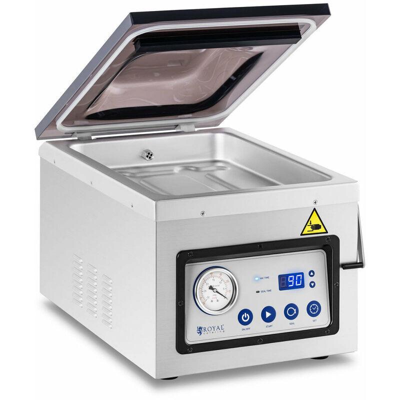 HELLOSHOP26 Machine sous vide alimentaire 1 000 watts 26 cm acier inoxydable - Argenté