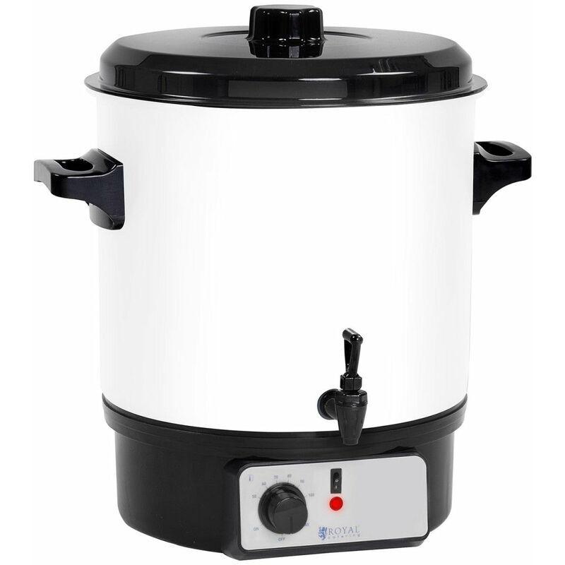 HELLOSHOP26 Marmite à vin chaud distributeur à eau chaude 27 litres robinet