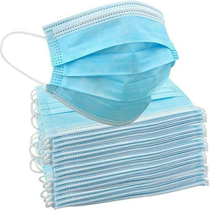 Ilovemilan - Masque jetable bleu tissu soufflé par fusion masque non tissé masque anti-poussière civile 100 pièces masque de jour jetable
