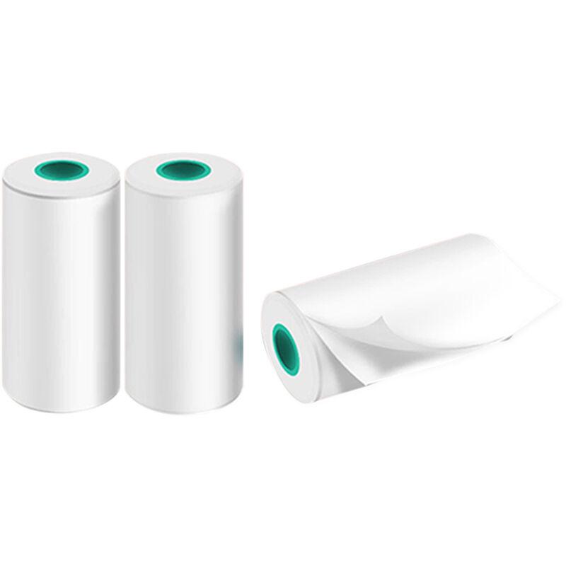 Happyshopping - Papier d'impression thermique haute definition 30*57mm, 3 rouleaux/boite de papier pour etiquettes, papier d'impression auto-adhesif