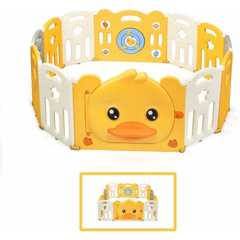 DéCOSHOP26 Parc bébé en plastique pliable 12 pièces 80 x 39 x 67 5 cm barrière d'enfant en hdpe sans bpa - noir